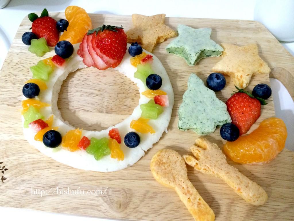 生クリームを使わないフルーツのクリスマスケーキ
