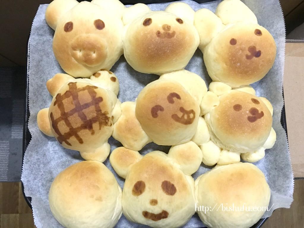 かわいい手作り動物パン