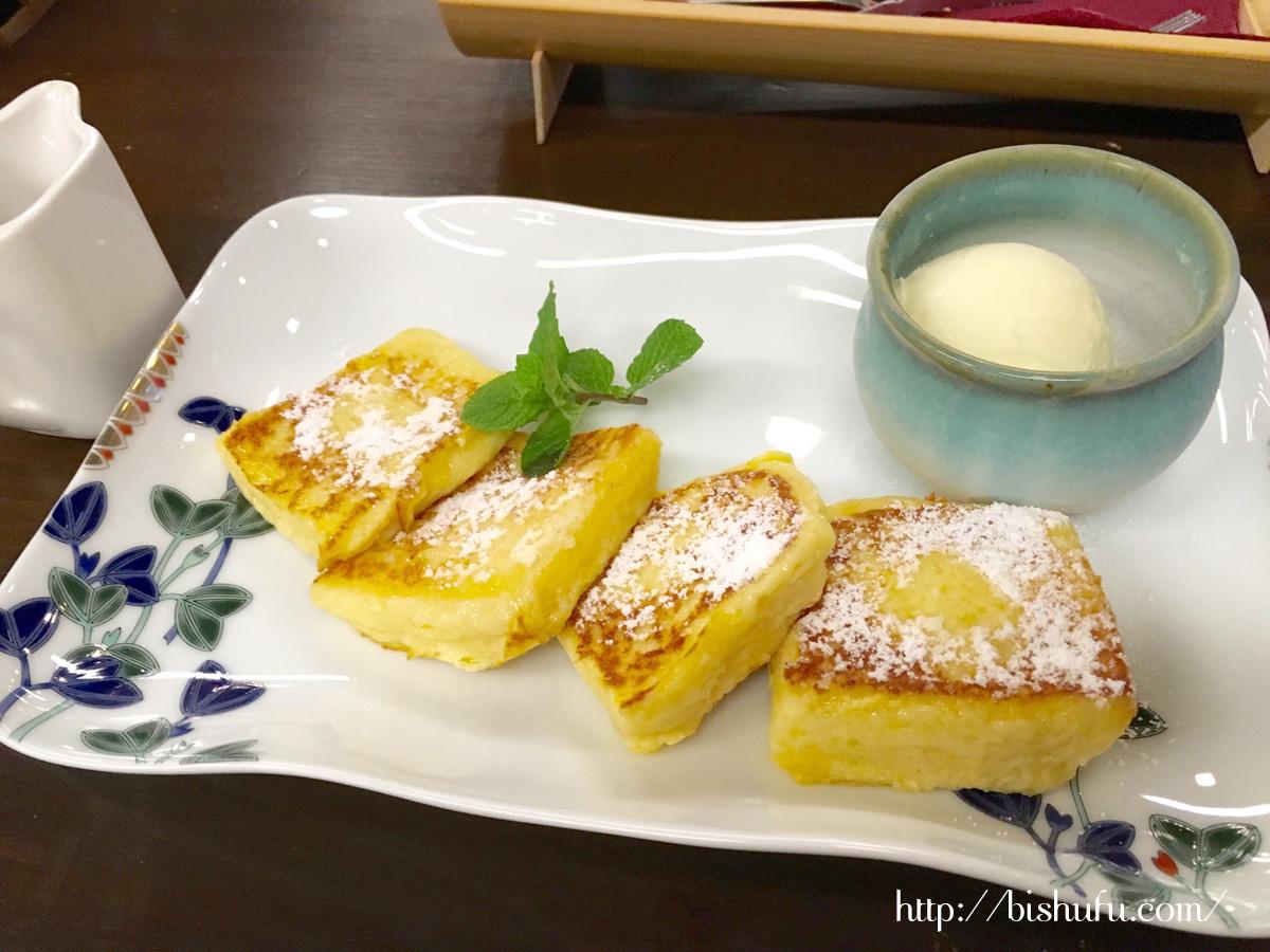 有福cafe人気のフレンチトースト