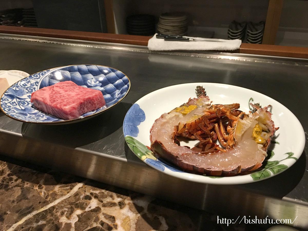 神和苑(かんなわえん)の夕食鉄板焼きコース